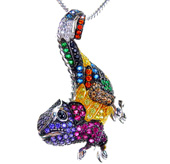 Menagerie Brooches (Chameleon)