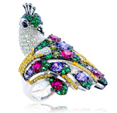 Menagerie Ring (Peacock)